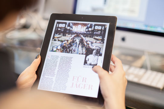 Professionelles Digital Publishing für eine interaktive Tablet-App.