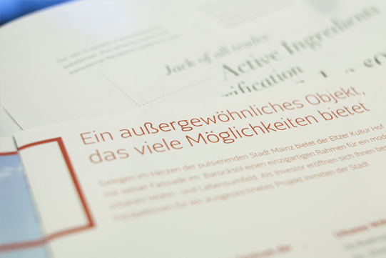 Detail-Typografie und Layout im Kommunikationsdesign zur Vertiefung