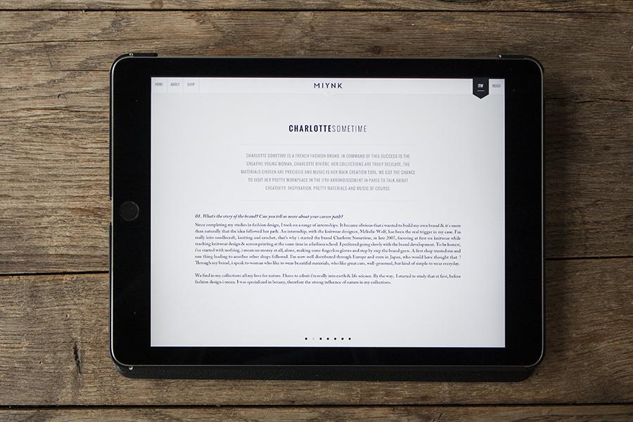 Miynk App Tablet Magazin für DIY