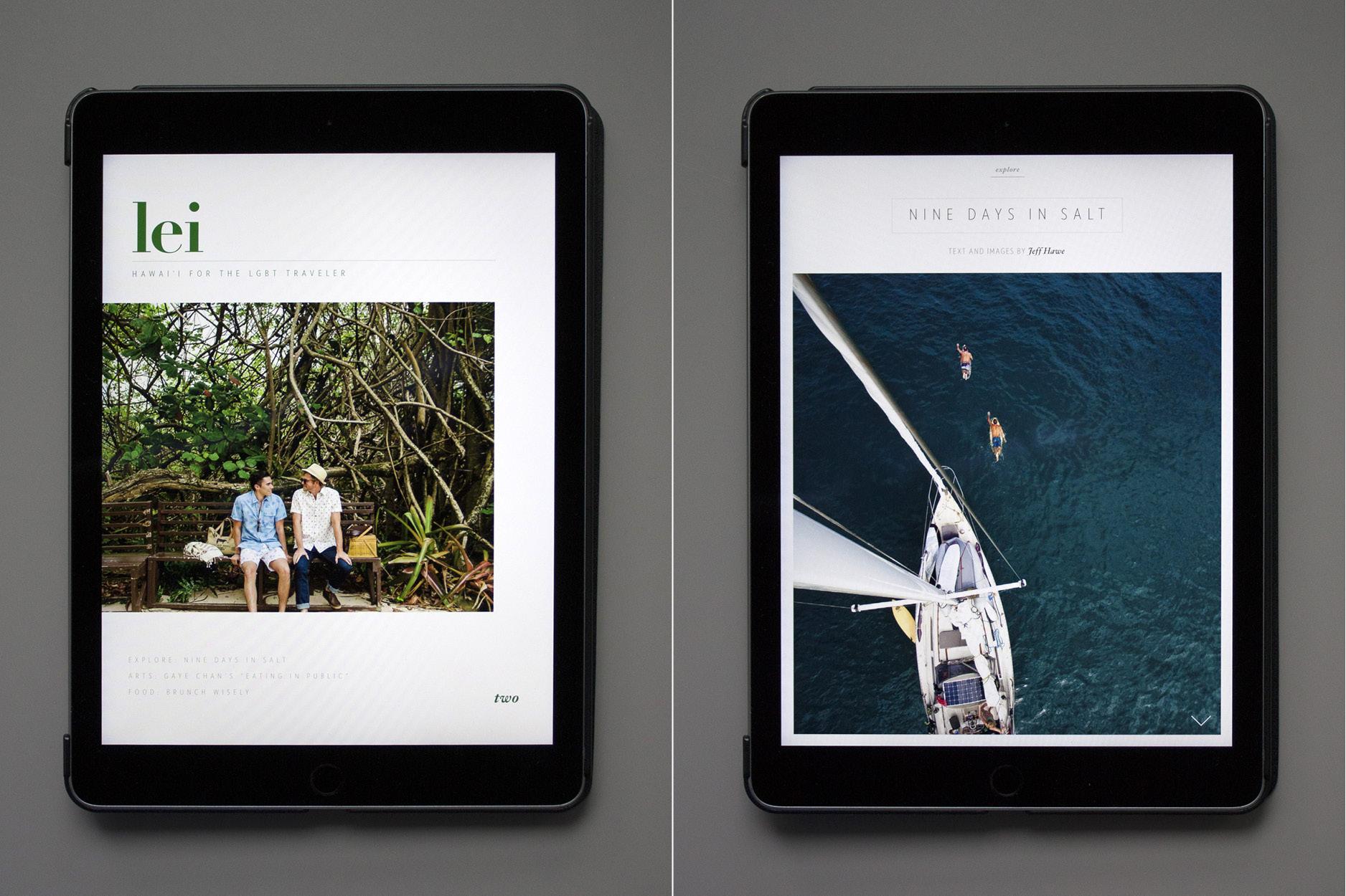 Viel Raum für Bilder in der Lei-App