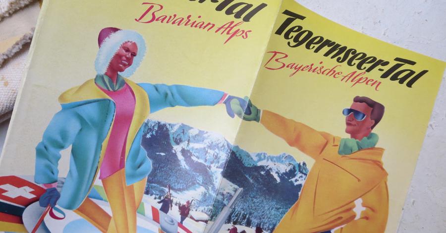 4-Farb-Prospekt im Buchdruck aus den 60ern – Typeschool Layout Typografie Kommunikationsdesign