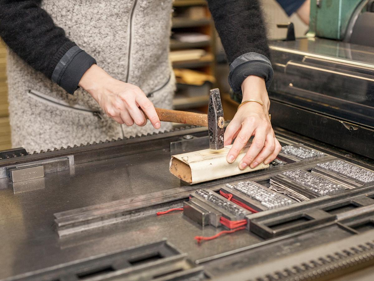 Workshop Bleisatz und Buchdruck wie zu Zeiten Gutenbergs.