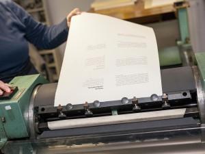 Workshop Bleisatz und Buchdruck mit Uwe Steinacker wie zu Zeiten Gutenberg.