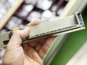 Flattersatz Bleisatz ausgeschlossen im Winkelhaken im Workshop bei TypeSCHOOL.
