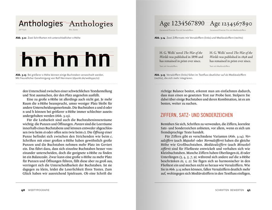 Beispielseite aus dem Typografie-Buch Webtypografie von Jason Santa Maria aus dem dpunkt-Verlag