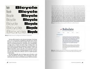 Beispielseite über Schriftschnitte und Schriftfamilien in der Webtypografie.