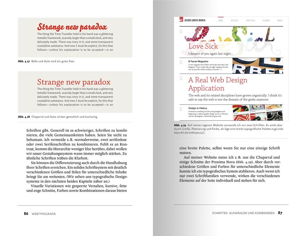Beispielseite aus Webtypografie: Schriften von  Jason Santa Maria