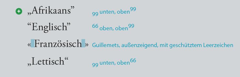 Anführungszeichen in Fremdsprachen