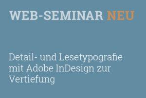 Workshop Fort- und Weiterbildung zu Detail- und Lesetypografie