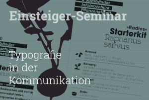Einsteiger-Seminar Typografie in der Kommunikation