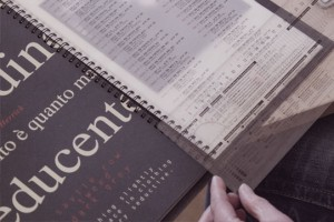 Anwendung typografischer Hilfsmittel