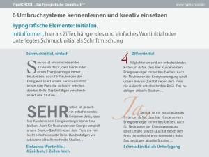 Auszug aus dem Typografischen Grundbuch über Umbruchsysteme