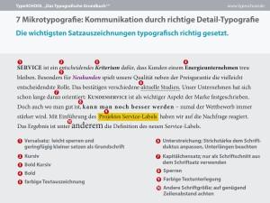 Ein Auszug aus dem Typografischen Grundbuch über Mikrotypografie