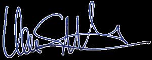 Unterschrift von Uwe J Steinacker