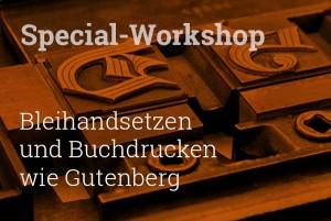 Workshop zu Bleisetzen und Buchdrucken in Dresden