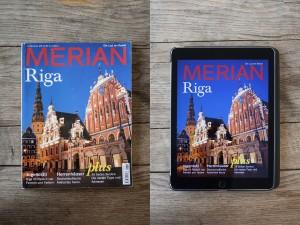 Tablet und Print-Magazin der Reisezeitschrift Merian