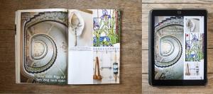 Tablet- und Printausgabe des Reisemagazins Merian