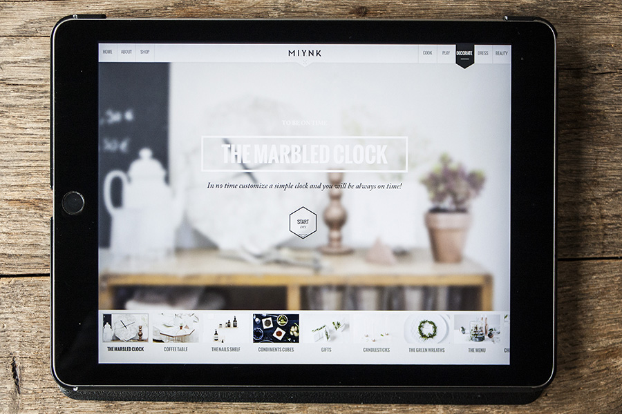 Miynk App Tablet Magazin für DIY