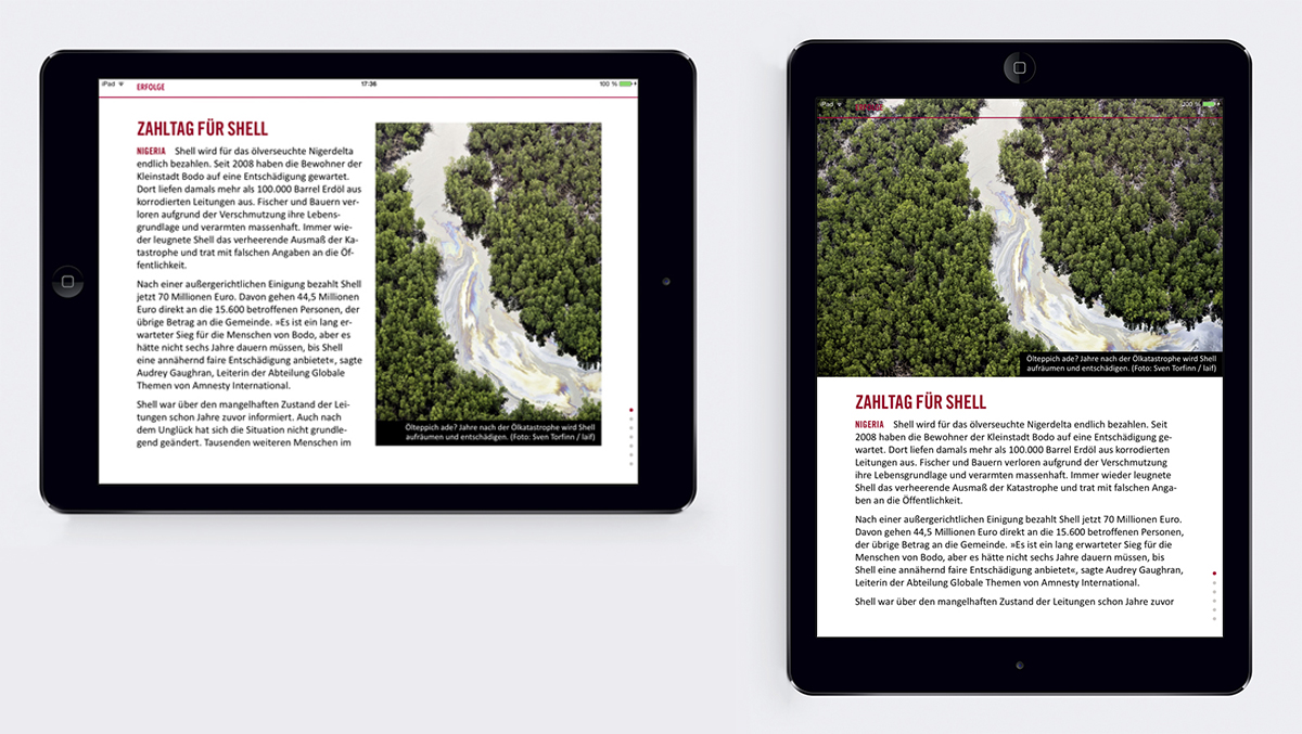 Amnesty Journal: Die Magazin-App von Amnesty International