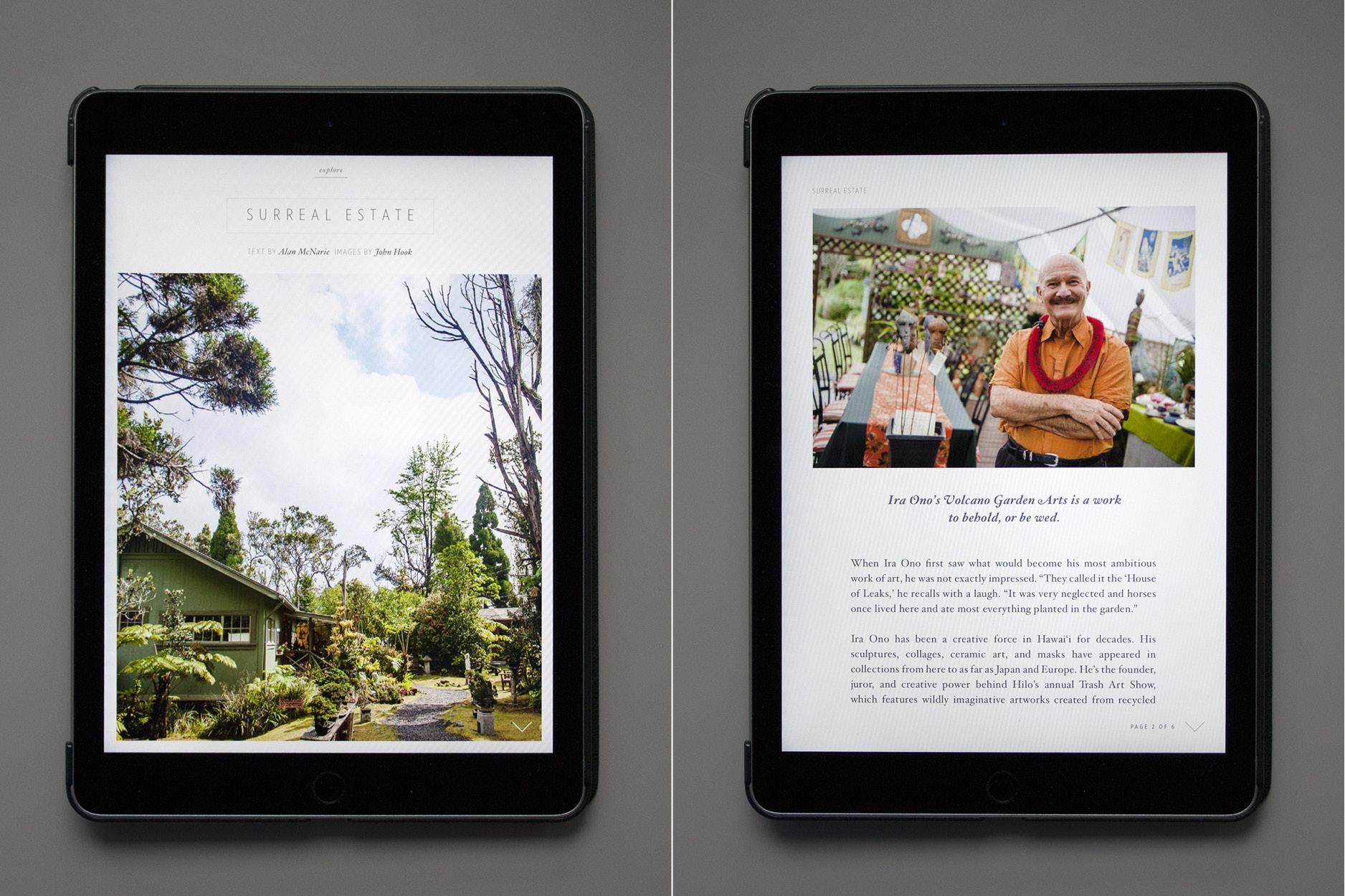 Fließtext und Bilder in der Lei-App