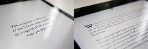 Typografie in der Lei-App