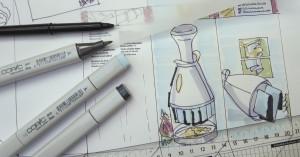 Layouttechnik mit Copy-Markern – TypeSCHOOL Typografie Layout Kommunikationsdesign