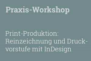 Print-Produktion Reinzeichnung und Druckvorstufe mit InDesign.