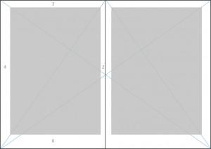 Eine Strahlenkonstruktion hilft Ihnen dabei, den richtigen Satzspiegel zu finden
