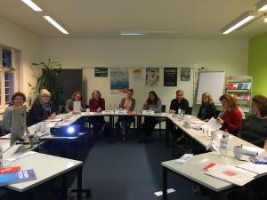 Seminar Detailtypografie LektorInnen im Seminarraum im Börsenverein des deutschen Buchhandels in Düsseldorf