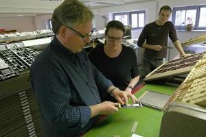 Bleisatz und Buchdruck zu Zeiten Gutenbergs