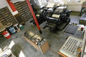 Workshop Bleisatz und Buchdruck zu Zeiten Gutenbergs