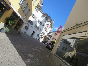 Zürich Altstadt während Typo-Week mit Typeschool