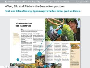 Bild, Typografie, Weissraum im Workshop mit InDesign