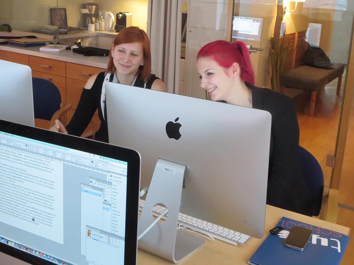 Teilnehmer der Fortbildung zum Thema Typografie und Layout in Wien