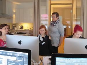 Teilnehmer des Workshops zum Thema Typografie und Layout in Wien