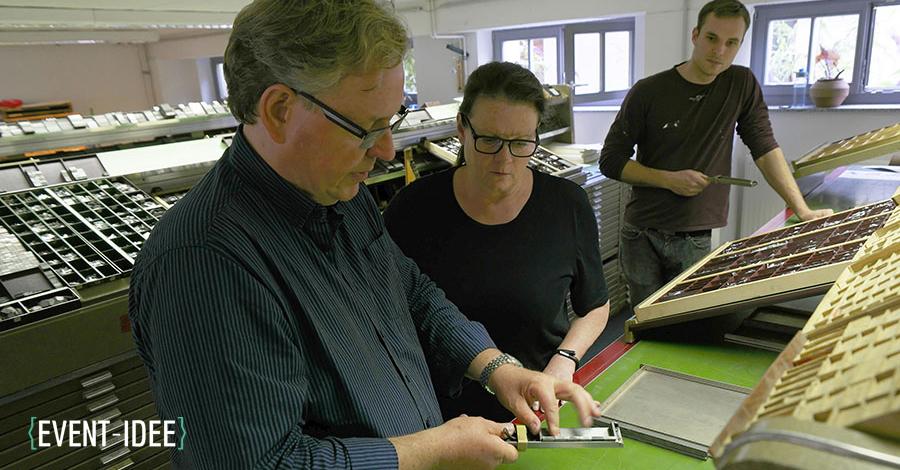 Bleisetzen und Buchdrucken wie Gutenberg: Das Gruppen- und Firmenevent in Dresden
