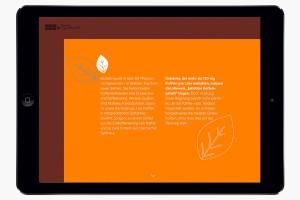 Beispielhafter Fließtext in der Bleib gesund App von der AOK: Kurz und knackig.