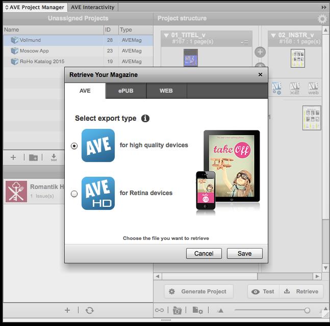 Apps versenden mit Aquafadas: Für Display-Typ optimieren