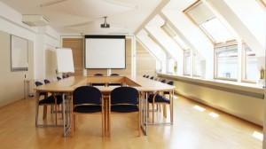 Der Raum für die TypeSCHOOL-Workshops zu Typografie und Layout mit InDesign in Wien.