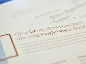 Beispiel für gute Typografie in einem Print-Design.