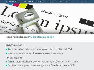 Wichtige PDF-X-Standards für die Druckvorstufe.