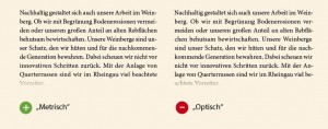 Optimiertes Kerning im Blocksatz in Adobe InDesign