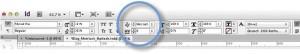 Zeichenpalette von Adobe InDesign mit den Einstellungen für Optisches und Metrisches Kerning.