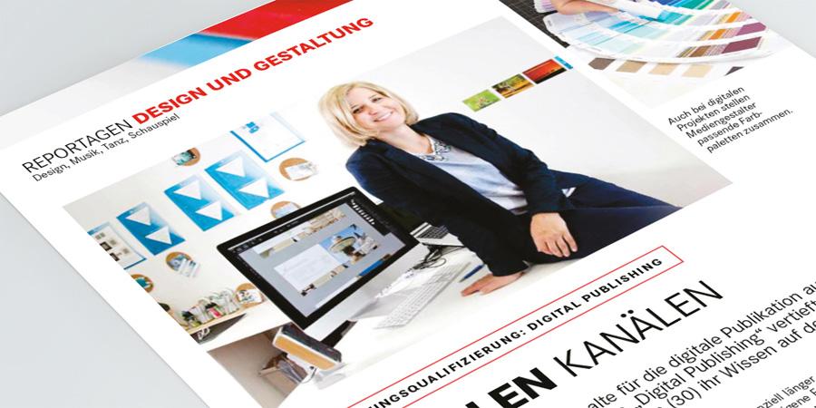 Artikel über Digital Publishing im Durchstarten-Magazin der Bundesagentur für Arbeit