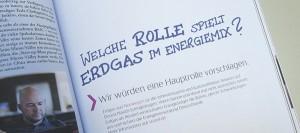 Axiale Headline-Gestaltung einer Werbeanzeige; Statoil