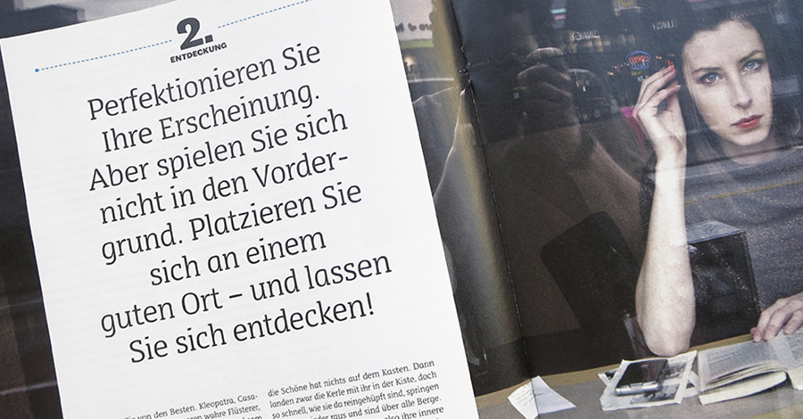 Axialer Zeilenfall in der Stuttgarter Opernzeitung