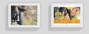 Screenshots der Laquai-App, die komplett mit InDesign und dem Plugin Aquafadas entstanden ist.