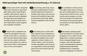 Fremdsprachensatz typografisch korrekt auszeichnen mit Länderkennzeichen
