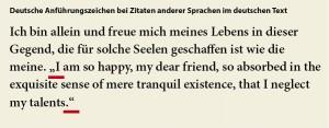 Typografie für Lektoren: Deutscher Text, fremdsprachige Zitate/Anführungen