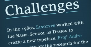 Slab Serif Fonts in einer Publikation der Linotype AG